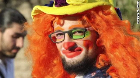 clown of aleppo killed in airstrike intv mahmoud al basha _00010417