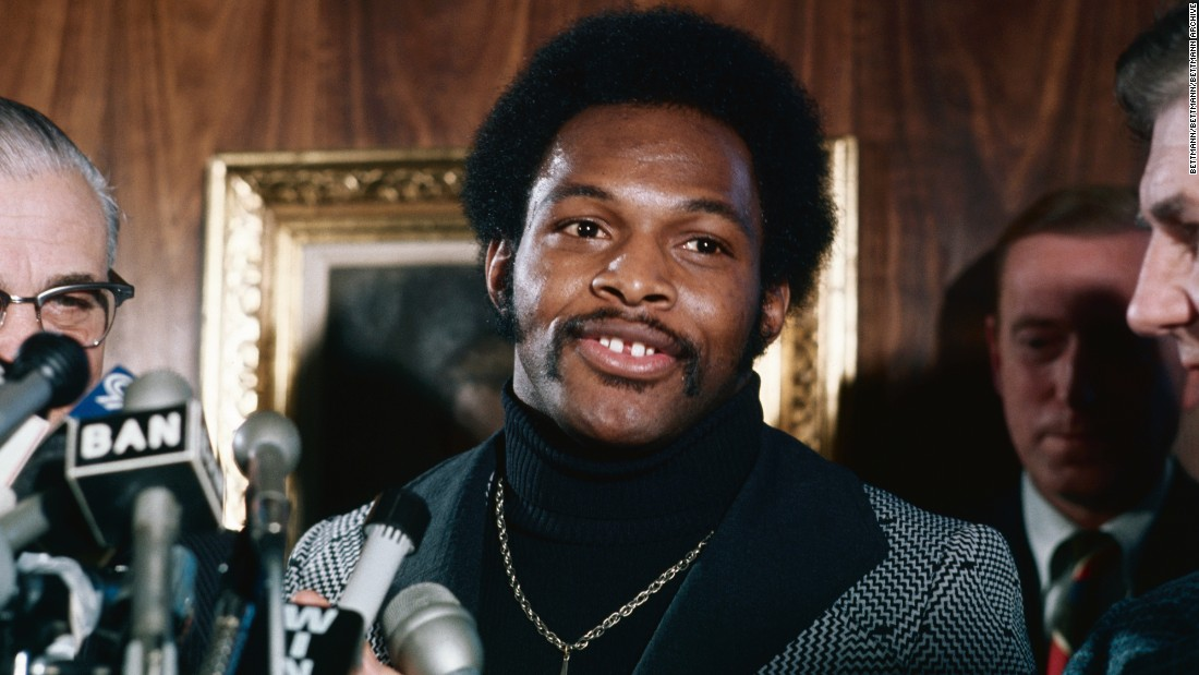 Archie Griffin of Ohio State speaks during press conference on December 02, 1975, after he was named winner of the Heisman Trophy for the second time, becoming college football's only two-time Heisman Trophy winner.  He went on to play in the NFL for seven seasons with the Cincinnati Bengals.