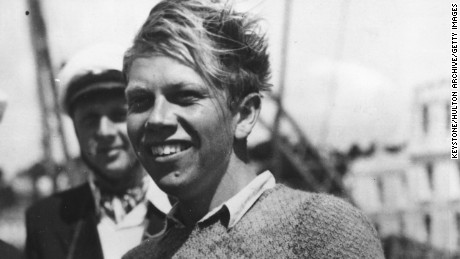 13th August 1948:  Danish yachtsmen Paul Elvstrom, winner of the Firefly class at the 1948 Olympics in Torquay, Devon.  (Photo by Keystone/Getty Images)