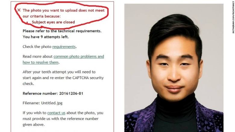 New zealand passport robot thinks this asian mans eyes are closed new zealand39s online passport application system couldn39t recognize ccuart Images