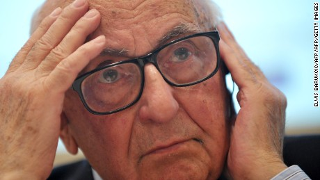 President of the International Criminal Tribunal for the former Yugoslavia (ICTY), Theodor Meron listens during a conference in Sarajevo on November 27, 2013. The conference was organized to mark the 20th anniversary since ICTY was established by the United Nations.  AFP PHOTO ELVIS BARUKCIC        (Photo credit should read ELVIS BARUKCIC/AFP/Getty Images)