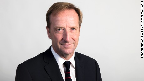 "Undated handout file photo issued by the Foreign and Commonwealth Office of spy chief Alex Younger who has said terror groups like Islamic State (IS) pose a ""persistent threat"" that is set to last a ""professional lifetime."""