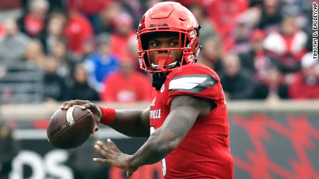 Louisville quarterback Lamar Jackson is the first Heisman Trophy winner from his university.