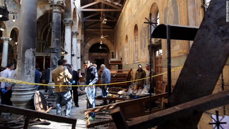 Cairo cathedral blast leaves at least 25 dead
