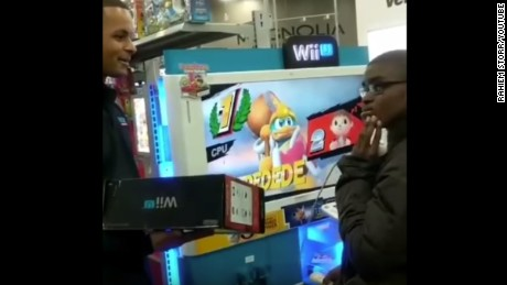 Employees at a Best Buy in suburban New York surprised this teen with a Wii game system of his own.
