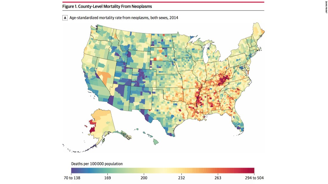 Whats The Most Common Cause Of Death In Your County CNN - Map of western kentucky