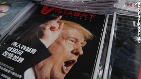 "A magazine featuring US President-elect Donald Trump is seen at a bookstore in Beijing on December 12, 2016.   The headline reads ""How will businessman Trump change the world"". Beijing is ""seriously concerned"" by US president-elect Donald Trump's suggestion that he could drop Washington's One China policy unless the mainland makes concessions on trade and other issues, it said on December 12. / AFP / GREG BAKER        (Photo credit should read GREG BAKER/AFP/Getty Images)"