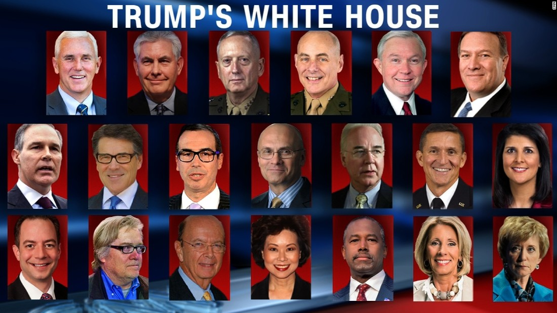 White males dominate Donald Trump's top cabinet posts - CNNPolitics