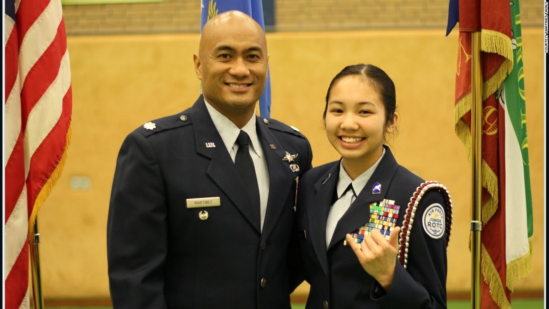 Kianni is already following in her father's footsteps. The teenager is preparing for her university ROTC program, and she jokes that she wants to one day outrank her dad.