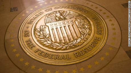 WASHINGTON, DC - MAY 19:   A gold plated seal outside inside the Eccles Building,  the place of the Board of Governors of the Federal Reserve System and of the Federal Open Market Committee,  May 19, 2016 in Washington, DC. (Photo by Brooks Kraft/ Getty Images)
