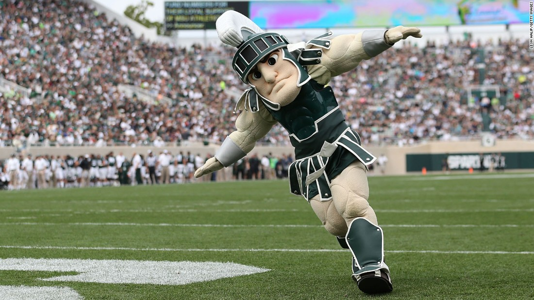 A staple of the sports scene in East Lansing, Michigan, for years, Sparty is always a crowd-pleaser.