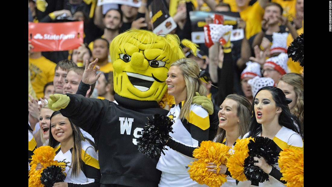 "Mascot designer Tom Sapp has designed hundreds of mascots, including WuShock, who is described by Wichita State's website as a ""muscular bundle of wheat."" Click through the gallery for more of Sapp's creations."