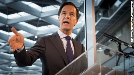 Dutch Prime Minister Mark Rutte hopes the Netherlands' economic stability will help him win.