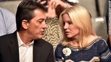 Actor Scott Baio and his wife Renee Sloan attend the final presidential debate in Las Vegas, Nevada on October 19, 2016.