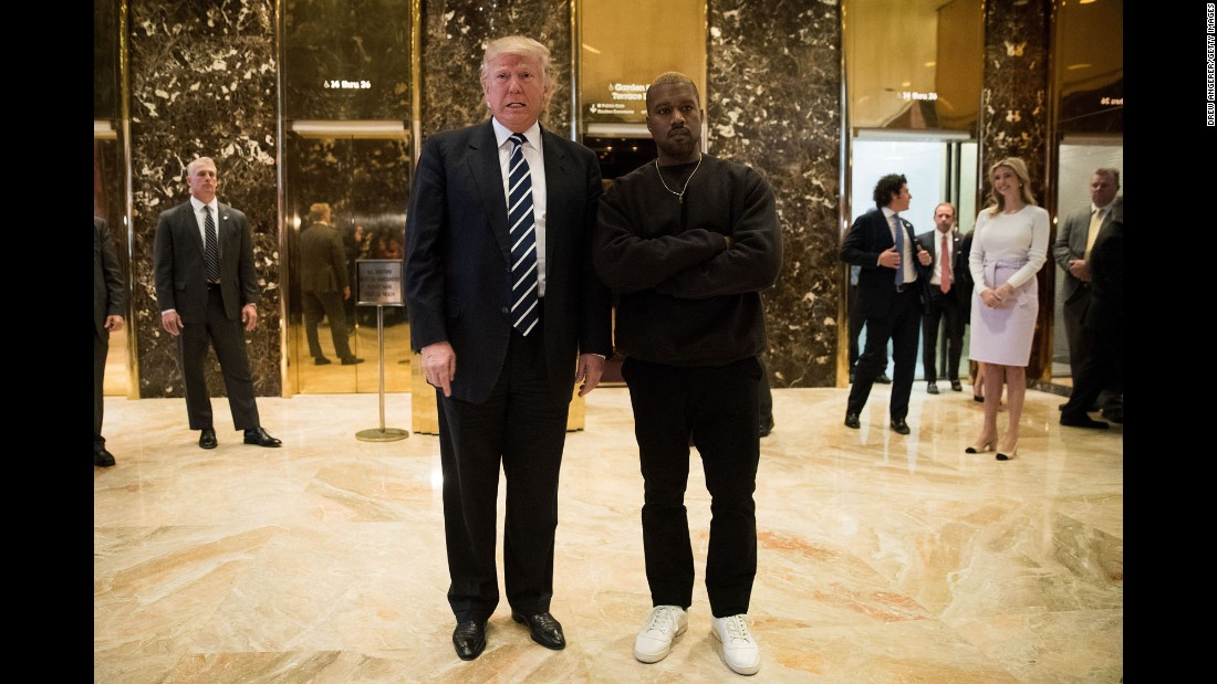 "Trump and rapper Kanye West speak to the press after <a href=""http://www.cnn.com/2016/12/13/politics/kanye-west-donald-trump-trump-tower/"" target=""_blank"">meeting at Trump Tower</a> in New York on December 13. Trump called West a ""good man"" and told journalists that they have been ""friends for a long time."" West later tweeted that he met with Trump to discuss ""multicultural issues."""