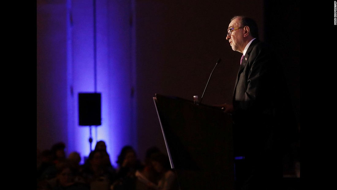 "Carlos Sada, Mexico's ambassador to the United States, speaks in Nashville, Tennessee, during a session of the National Immigration Integration Conference on Monday, December 12. ""Mexico's relationship with the United States is essential to our international stature,"" <a href=""http://www.tennessean.com/story/news/politics/2016/12/12/mexican-ambassador-future-could-challenging-under-trump/95217854/"" target=""_blank"">he said during a panel discussion.</a>"