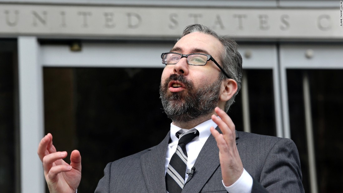 "Democratic presidential elector Bret Chiafalo speaks outside the US Courthouse in Seattle before a hearing on Wednesday, December 14. Chiafalo and fellow Democratic elector Levi Guerra were challenging the law that would fine electors $1,000 each if they broke their pledge and cast electoral votes for someone other than who the state chose. But <a href=""http://www.seattletimes.com/seattle-news/politics/judge-rejects-anti-trump-electors-legal-claim/"" target=""_blank"">a judge ruled against them,</a> damaging the longshot idea that <a href=""http://www.cnn.com/2016/11/23/politics/faithless-electors-donald-trump/"" target=""_blank"">""faithless electors""</a> could keep the presidency out of Donald Trump's hands."