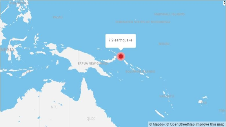 The Papua New Guinea region is vulnerable to techtonic disturbances. A 7.9-magnitude quake struck the area in 2016.