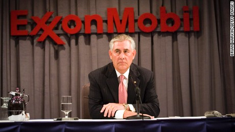 ExxonMobil Chairman Rex Tillerson speaks at a press conference after the ExxonMobil annual shareholders meeting at the Morton H. Meyerson Symphony Center May 28, 2008 in Dallas, Texas