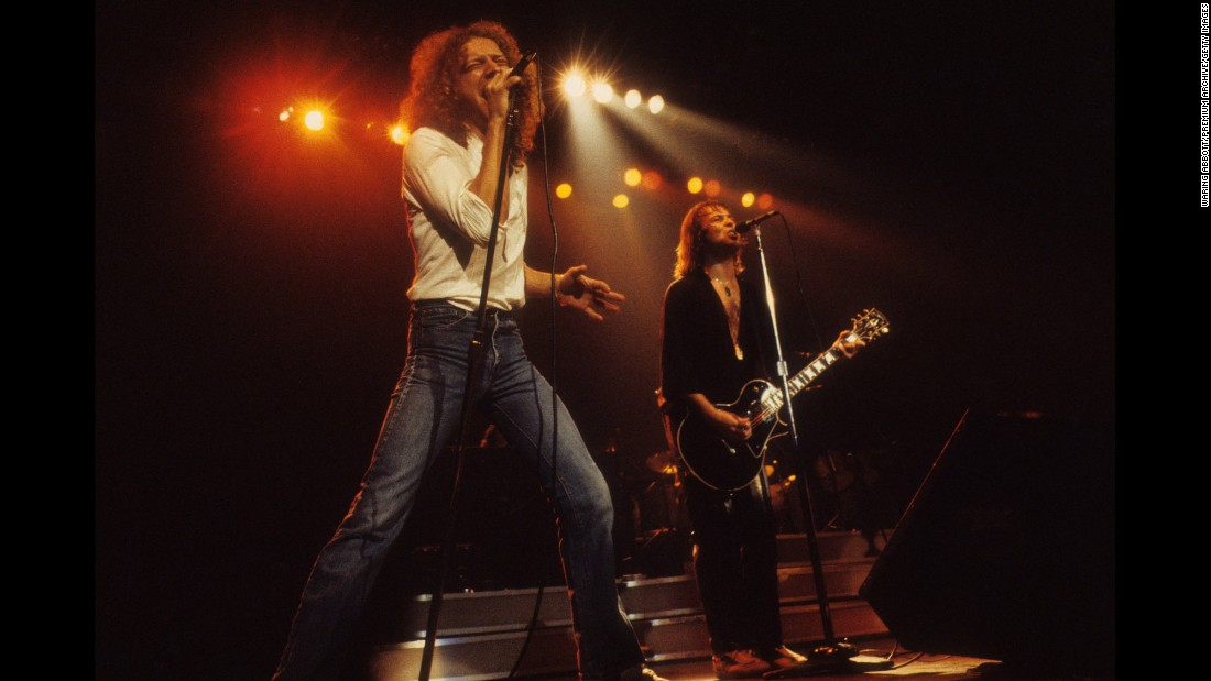 "When this six-member band formed in 1976, half were Americans and half were British. Lou Gramm, left, a Yank, sang lead.  Englishman Mick Jones right, played guitar.  Brits Ian McDonald, drummer Dennis Elliot and Americans Al Greenwood on keyboards and bassist Ed Gagliardi completed the initial lineup. Foreigner sold 37 million units in the US, thanks to rockers like ""Hot Blooded"" and ""Double Vision."" But it was their ballad, ""I Want to Know What Love Is,"" that topped Billboard's singles charts in 1985 -- pushing Madonna's ""Like a Virgin"" out of the No. 1 spot."