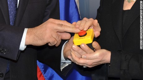 In 2009, then-Secretary of State Hillary Clinton gifted Russian foreign minister, Sergey Lavrov, with a symbolic reset button, pictured.