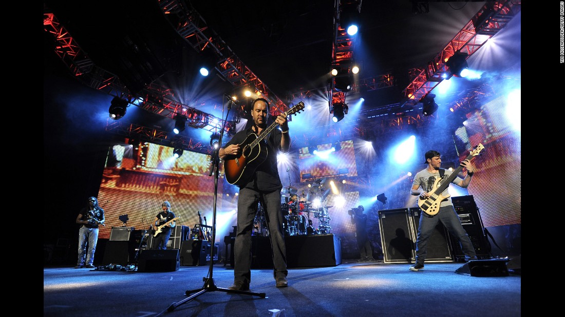 "Born in Virginia in the early 1990s, this jam-friendly band won a huge following with hits like ""So Much to Say,"" ""Too Much"" and ""Crash into Me."" So far the Dave Matthews Band have sold 33.5 million units in the US according to the Recording Industry Association of America."