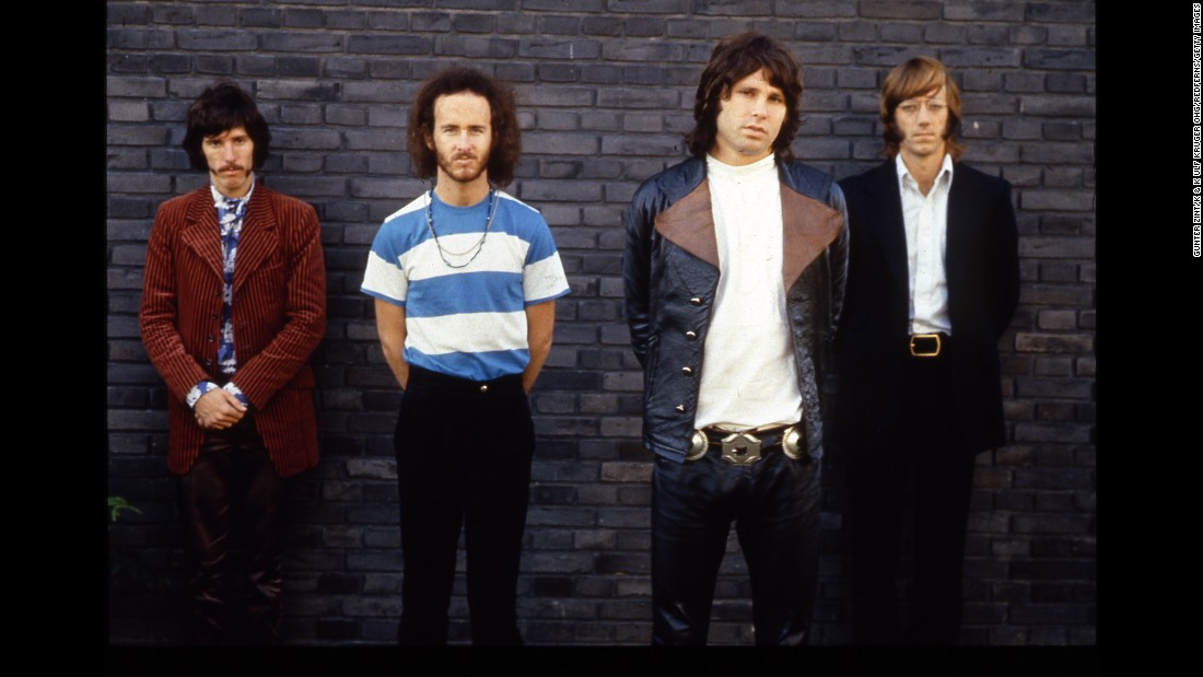 "Formed in Southern California in 1965, The Doors pushed the limits of what rock bands were allowed to do. While they were scoring No. 1 hits like ""Light My Fire,"" they were also creating epic psychedelic songs like ""The End,"" which included mesmerizing theatrical elements. Left to right, drummer John Densmore, guitarist Robbie Krieger, the late singer Jim Morrison and keyboardist Ray Manzarek, who died in 2013 -- sold 33 million recordings in the US, according to the Recording Industry Association of America."