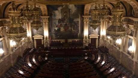 Pennsylvania's 20 electors will cast their votes at the state's House chambers.