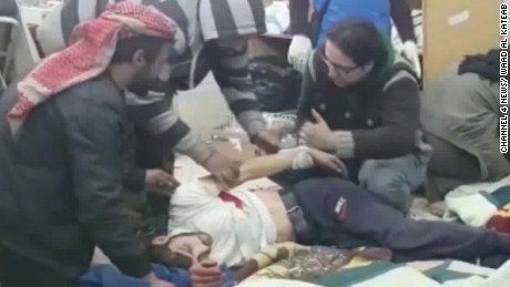 wounded wait for evacuations aleppo israel itn donut_00003612