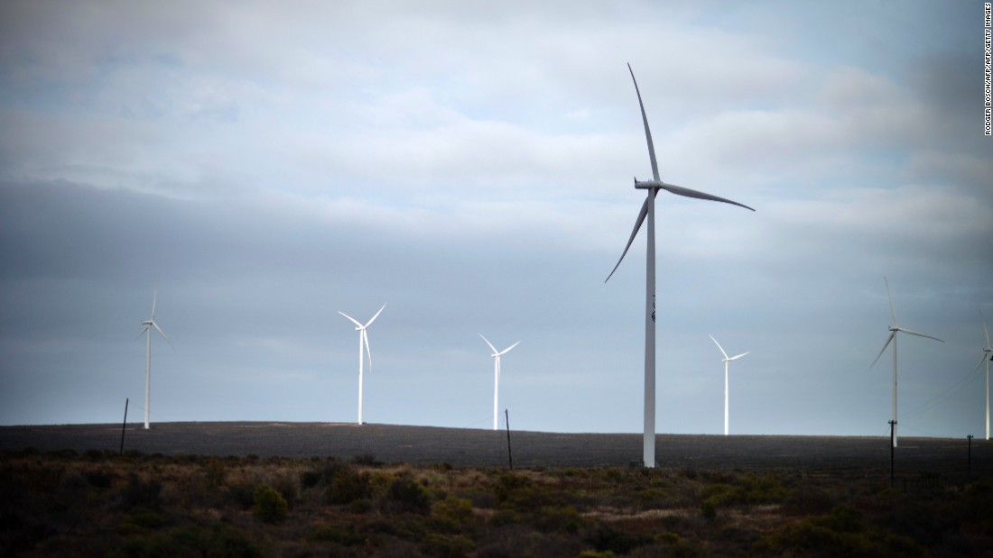South Africa also boasts abundant wind resources such as the 100 MW Sere wind farm in the Western Cape province, and the sector is expanding rapidly.