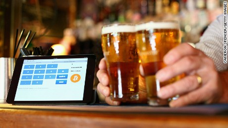 Some shops and pubs, such as this one in Australia, accept Bitcoin.