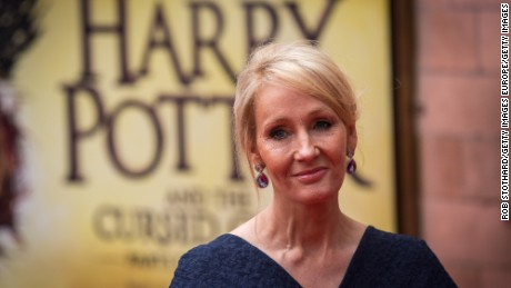 "LONDON, ENGLAND - JULY 30:  J. K. Rowling attends the press preview of ""Harry Potter & The Cursed Child"" at Palace Theatre on July 30, 2016 in London, England. Harry Potter and the Cursed Child, is a two-part West End stage play written by Jack Thorne based on an original new story by Thorne, J.K. Rowling and John Tiffany.  (Photo by Rob Stothard/Getty Images)"