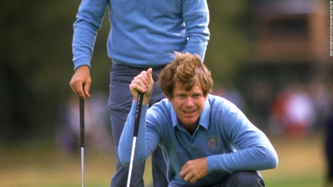 Nicklaus and Watson fought plenty of battles against each other but they also came together as team-mates in the 1981 Ryder Cup at Walton Heath in England, winning all three of their matches together as the US won 18.5 - 9.5.