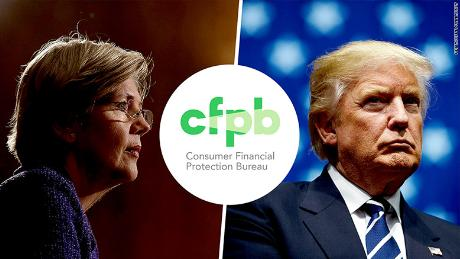 cfpb elizabeth warren donald trump