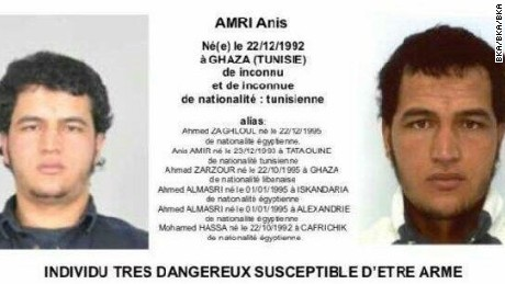 A reward of more $100,000 had been offered for information on Anis Amri's whereabouts.
