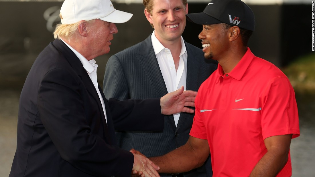 Tiger Woods and Donald Trump hit the golf course