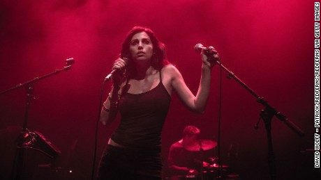 Yasmine Hamdan performs at Cafe de la Danse in Paris on May 20, 2014.