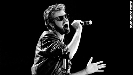 George Michael death. File photo dated 13/07/85 of George Michael of Wham performing at the Live Aid concert at Wembley Stadium in London, as the pop superstar has died peacefully at home, his publicist said. Issue date: Sunday December 25, 2016. See PA story DEATH Michael. Photo credit should read: PA/PA Wire URN:29552054