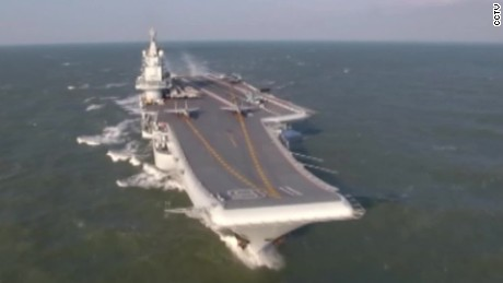 China's aircraft carrier prowls the Pacific