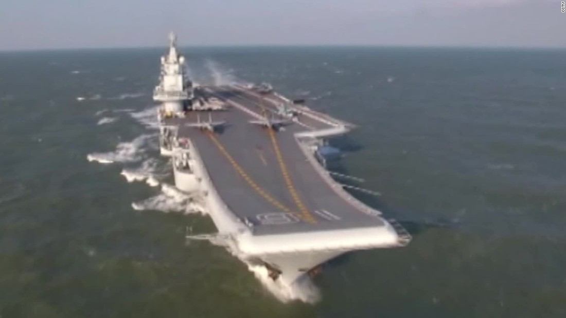 China's aircraft carrier prowling Pacific, sending a message