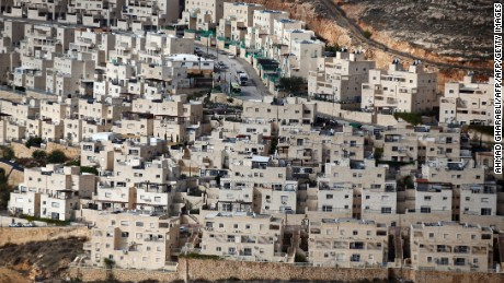 A general view taken on December 28, 2016 shows a partial view of the Israeli settlement of Givat Zeev near the West Bank city of Ramallah. / AFP / AHMAD GHARABLI        (Photo credit should read AHMAD GHARABLI/AFP/Getty Images)