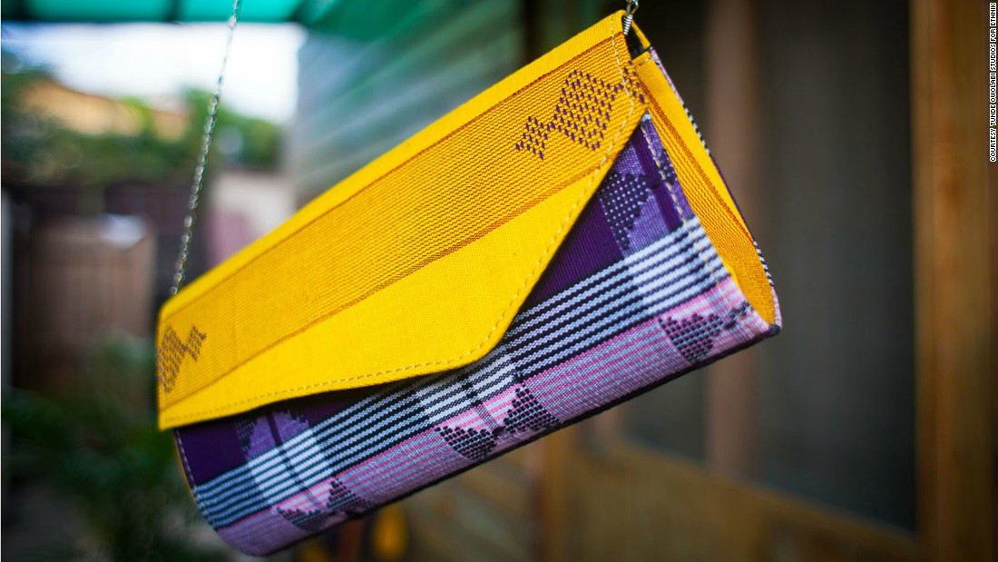 The bags, shoes and accessories in Ethnik's collections are made in Lagos by local craftsmen.