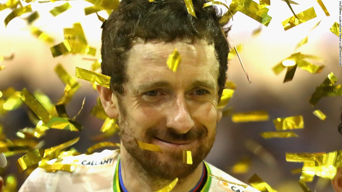 Wiggins celebrates victory after the final day of the 76th Six Days of Gent race at Kuipke Track Velodrome in November 2016.