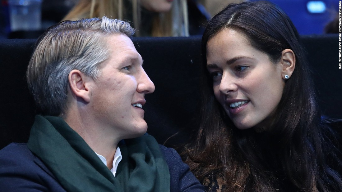 Ana Ivanovic, pictured with soccer star husband Bastian Schweinsteiger, announced her retirement from tennis on December 28, 2016.