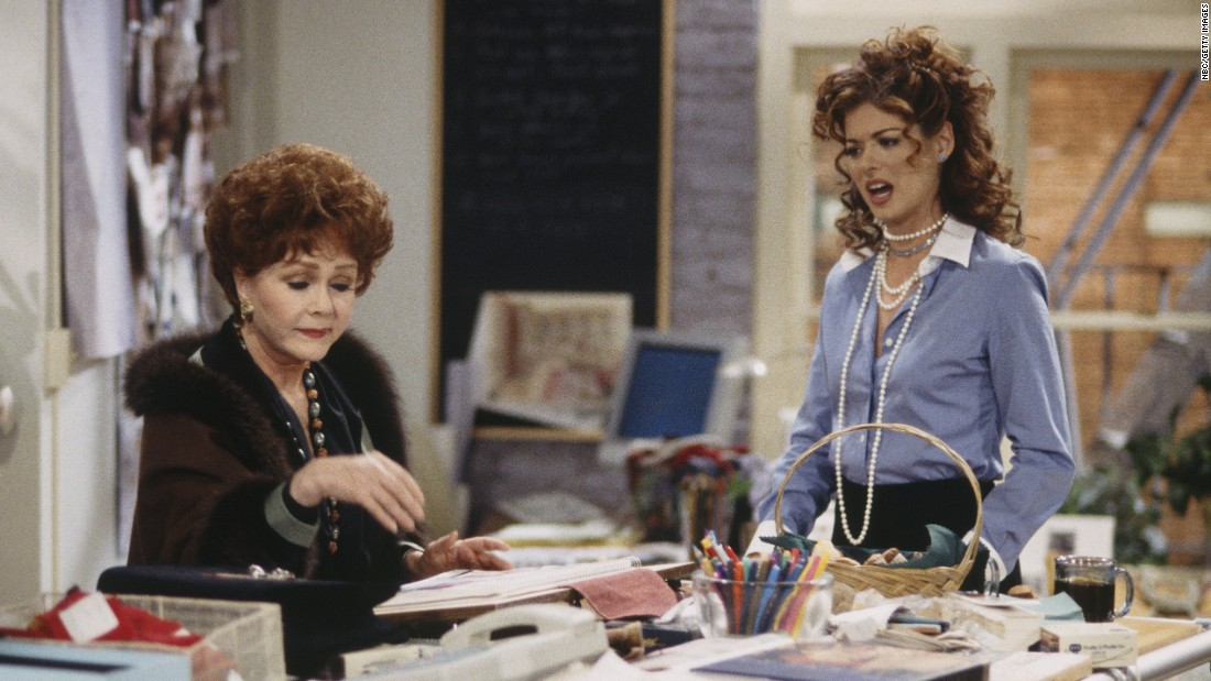 "Reynold's appears in an episode of ""Will & Grace""  in 1999 with Debra Messing.  Reynolds played the recurring character of Bobbi Adler, mother to Messing's Grace Adler."