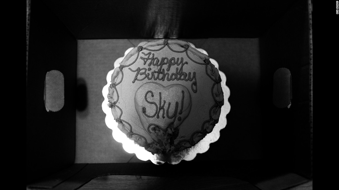 Allison went out to pick up ingredients for Sky's birthday cake, and when she returned she was surprised to find a beautiful cake already there. Her friend, Susan, had dropped it off while she was out.