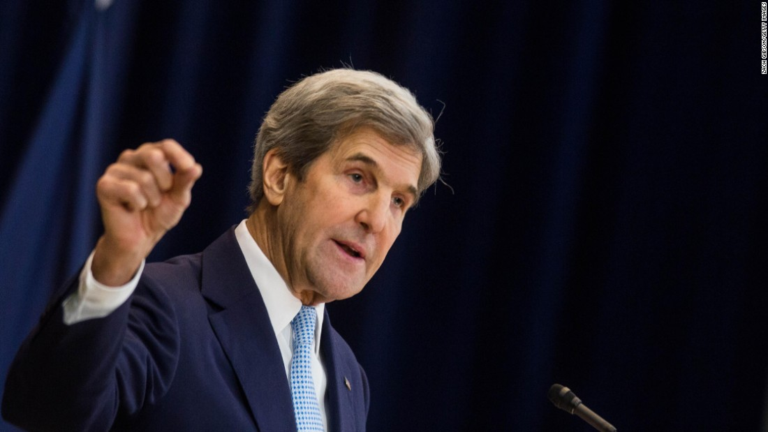 "In a controversial speech on <a href=""http://www.cnn.com/2016/12/26/politics/john-kerry-middle-east-peace-plan/"" target=""_blank"">Middle East peace</a> at the US Department of State on Wednesday, December 28, in Washington, US Secretary of State John Kerry spoke about the need for a two-state solution in Israel and defended the Obama administration's approach to the thorny situation, which has long stymied American presidents."