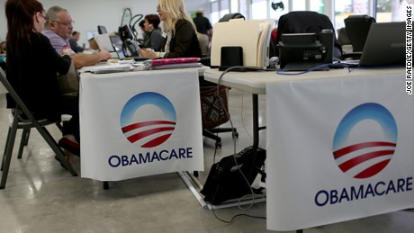 MIAMI, FL - FEBRUARY 05: Aymara Marchante (L) and Wiktor Garcia sit with Maria Elena Santa Coloma, an insurance advisor with UniVista Insurance company, as they sign up for the Affordable Care Act, also known as Obamacare, before the February 15th deadline on February 5, 2015 in Miami, Florida. Numbers released by the government show that the Miami-Fort Lauderdale-West Palm Beach metropolitan area has signed up 637,514 consumers so far since open enrollment began on Nov. 15, which is more than twice as many as the next large metropolitan area, Atlanta, Georgia