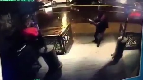 Video shows gunman entering Istanbul nightclub