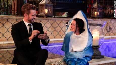 the bachelor premiere shark suit